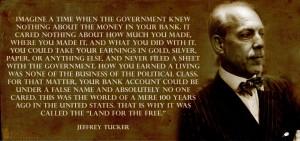 Aika kun hallitus ei tiennyt mitään rahoistasi pankissa - Jeffrey Tucker