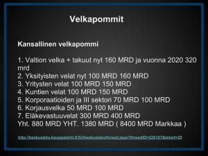 Kansallinen velkapommi - VELKAPOMMIT (1)